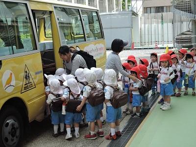 バス避難訓練