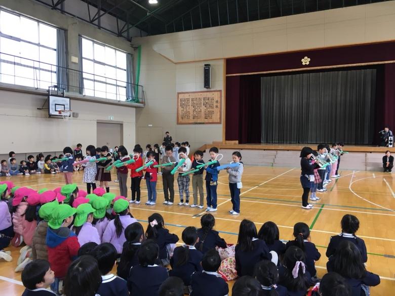 向陽小学校へ交流会へ行ってきました